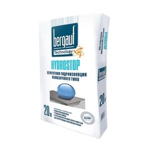 Гидроизоляция цементная BERGAUF Гидростоп, обмазочного типа (20 кг)