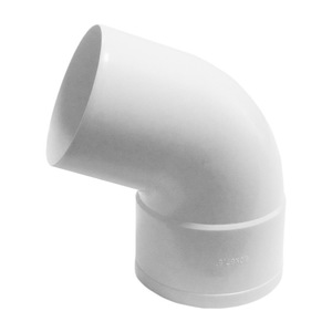 Отвод трубы 67 Мурол, d=80, белый