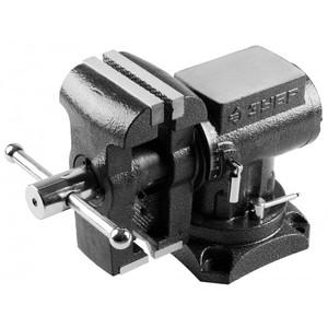 Многофункциональные слесарные тиски ЗУБР ЭКСПЕРТ 3D 125 мм с поворотом в двух плоскостях на 360°