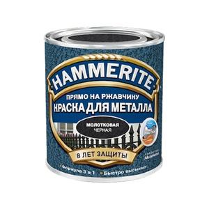 Краска по ржавчине Hammerite молотковая чёрная (0,75 л)