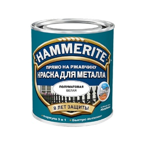 Краска по ржавчине Hammerite полуматовая белая (0,75 л)