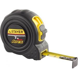 Рулетка STAYER AREX 3 м / 16 мм в ударостойком обрезиненном корпусе