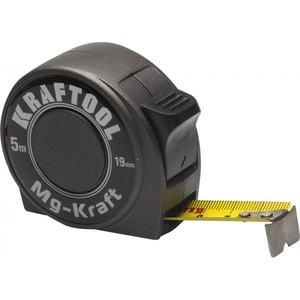 Рулетка в металлическом корпусе KRAFTOOL MG-Kraft 5 м / 19 мм ударопрочная профессиональная
