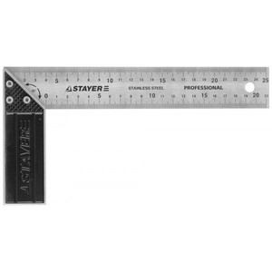 Угольник STAYER PROFI столярный гравированная шкала 37 мм 250 мм