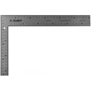 Угольник ЗУБР ЭКСПЕРТ плотницкий цельнометаллический (шаг 1 мм) 300х200 мм