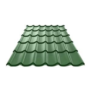 Металлочерепица (RAL 6005) зеленый мох 1190х2250х0,4 мм (2,68 м2)