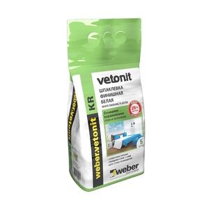 Шпаклевка финишная Weber Vetonit KR, для сухих помещений, 5 кг