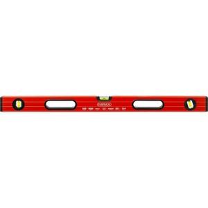 Уровень коробчатый усиленный MIRAX фрезерованная поверхность утолщенный профиль 3 противоударных ампулы (1 поворотная на 360 град) с ручками 80 см