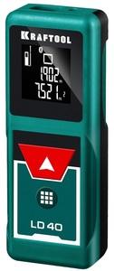 Дальномер LD-40 лазерный дальность 5см - 40 м точность 15 мм KRAFTOOL 34763