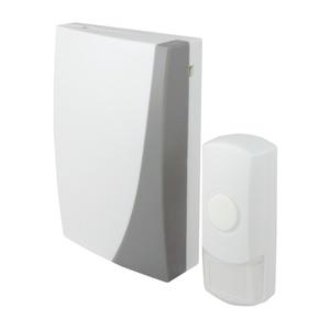 Звонок беспроводной, с кнопкой, батарейка 3х1,5В/АА, 36 мелодий, IP44