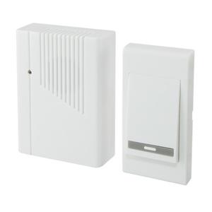 Звонок беспроводной, с кнопкой, батарейка 2х1,5В/АА, 36 мелодий, IP30