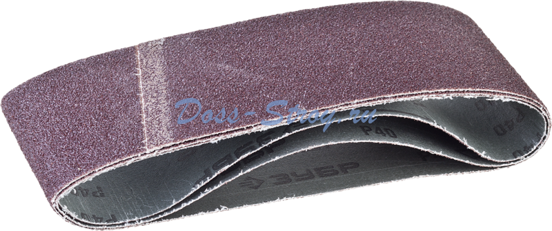 Лента шлифовальная бесконечная на тканевой основе ЗУБР МАСТЕР для ЛШМ P40 75х457 мм 3шт