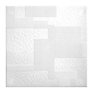 Плита потолочная Solid С2049 0,5х0,5 м 2 м² уп. 8 шт белая