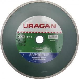 Диск алмазный отрезн.сплошной по керамограниту,мрамору,плитке URAGAN Clean Cut