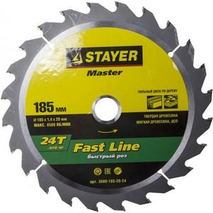 Диск пильный по дереву STAYER Fast Line