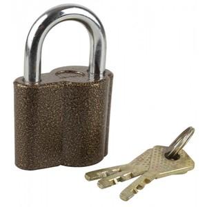 """Замок ЗУБР """"МАСТЕР"""" навесной, компактный корпус, дисковый механизм секрета, ключ 7 """"пинов, 48 х 41мм"""