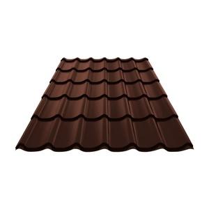 Металлочерепица (RAL 8017) корич. шоколад 1190х1200х0,4 мм (1,428 м2)