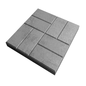 Плитка тротуарная 8-кирпичей 400х400 мм серая