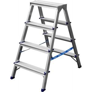 Лестница-стремянка СИБИН двухсторонняя алюминиевая