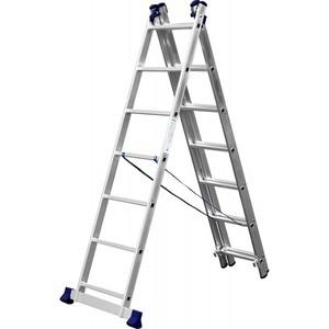Лестница СИБИН универсальная трехсекц. со стабилизатором