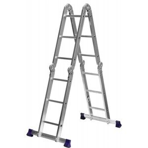 Лестница-трансформер 4x3 ступени алюминиевая СИБИН ЛТ-43