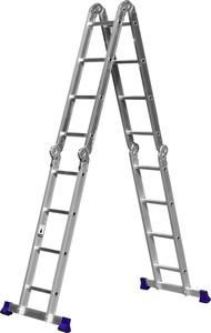 Лестница-трансформер 4x4 ступени алюминиевая СИБИН ЛТ-44