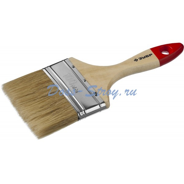 Кисть плоская ЗУБР УНИВЕРСАЛ-МАСТЕР натуральная щетина деревянная ручка