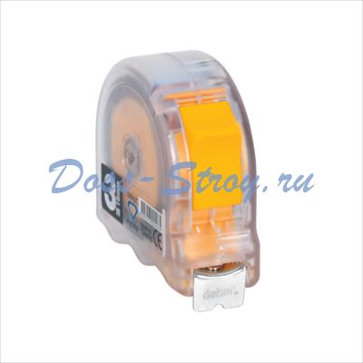 Рулетка прозрачная DEKOR 3 м х 16 мм корпус из ударопрочного эргономического пластика