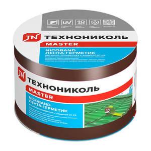 Лента-герметик самоклеящаяся Технониколь Никобенд, коричневый, 10х1000 см
