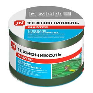 Лента-герметик самоклеящаяся Технониколь Никобенд, зеленый, 10х1000 см