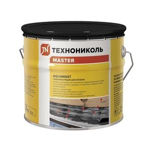 Мастика битумно-резиновая АкваМаст гидроизоляционная для кровли, 3 кг