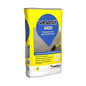 Наливной пол Weber Vetonit 4100, высокопрочный, 20 кг