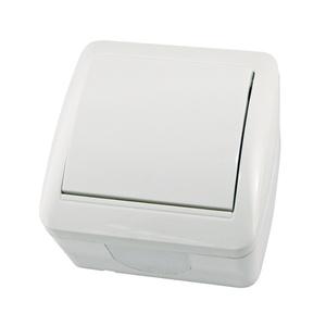 Выключатель о/у Селигер SQ1818-0001, 1 клавиша, 10А, 230В, IP44