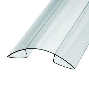 Профиль коньковый для поликарбоната 8х6000 мм б/цв.