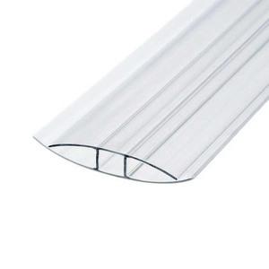Профиль соединительный неразъемный для поликарбоната 4х6000 мм б/цв.