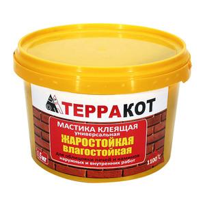 Мастика жаростойкая клеящая ТЕРРАКОТ, 1,5 кг