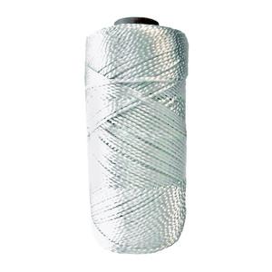 Шнур капроновый полиамидный крученый D=2 мм белый 100 м