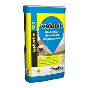 Смесь гидроизоляционная Weber vetonit тек. 930, 20 кг