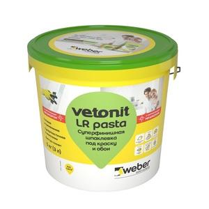 Шпаклевка готовая суперфинишная Weber vetonit LR pasta (5 кг)