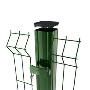 Столб заборный, квадратный, 40х40 мм, 3 м, зеленый