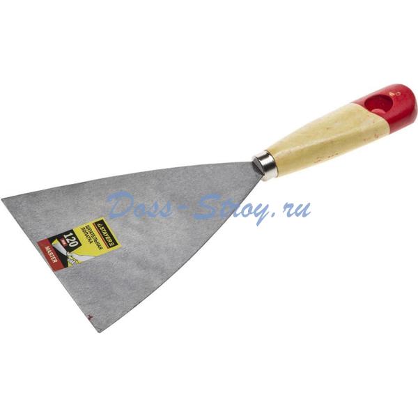 Шпательная лопатка STAYER MASTER c деревянной ручкой 120 мм
