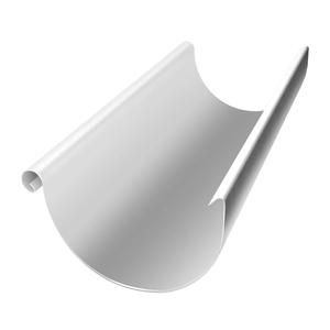Желоб, металл, d=125 мм, белый, 3 м