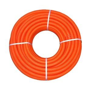 Труба ПНД э/тех. тяжелая с зондом, d=16 мм, оранжевая (бухта-100 п.м.)