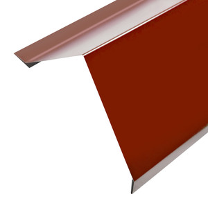 Планка карнизная для металлочерепицы (RAL 3005) красное вино (2 м)