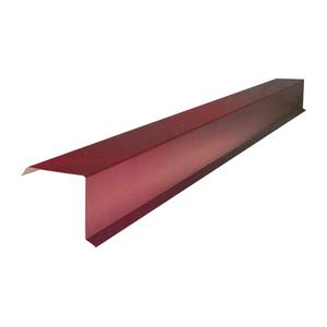 Планка торцевая для металлочерепицы (RAL 3005) красное вино (2 м)