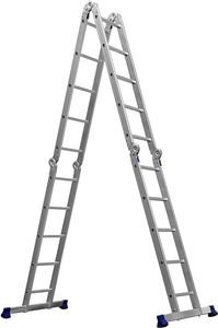 Лестница-трансформер 4x5 ступеней алюминиевая СИБИН ЛТ-45