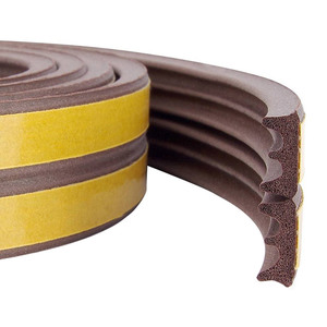 Уплотнитель тип Е коричневый, сдвоенный, 1 пог.м