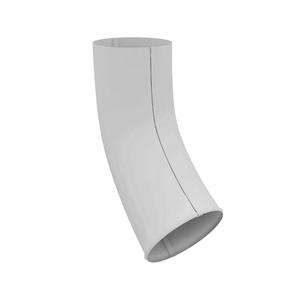 Колено сливное, металл, d=90 мм, белый