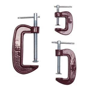 Набор струбцин Biber 85861 тип G 25 мм, 50 мм, 75 мм 3 шт