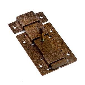 Задвижка дверная ЗД 02 накладная прямоугольный ригель бронза